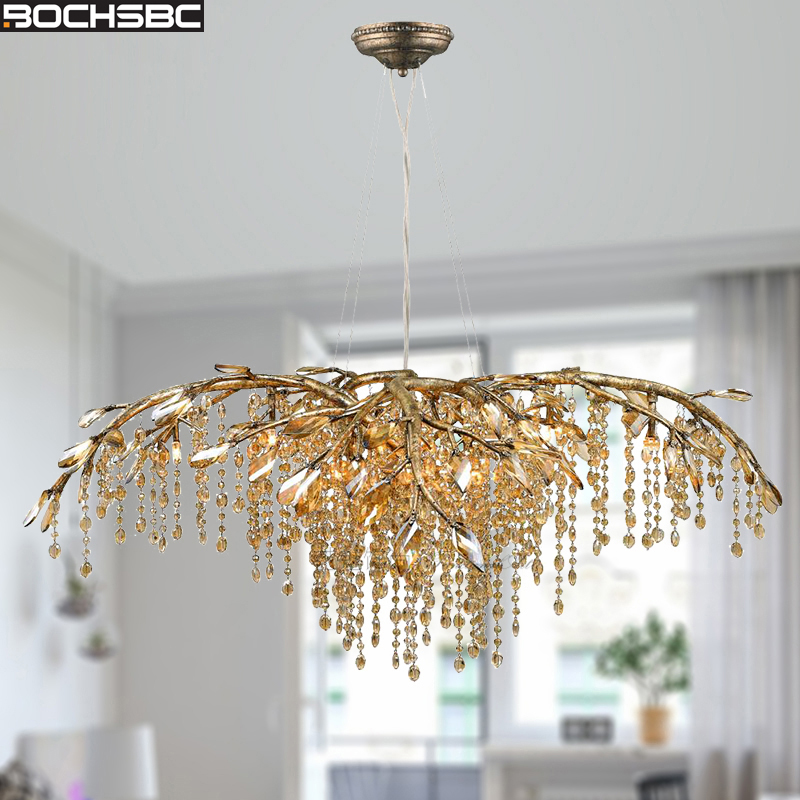 Bochsbc Branch Design K9 Crystal Chandeliers For Living Room Bedroom Dining Room Art Deco Hanging Lamp Lighting Fixtures Lampara Be Shrewd In Money Matters