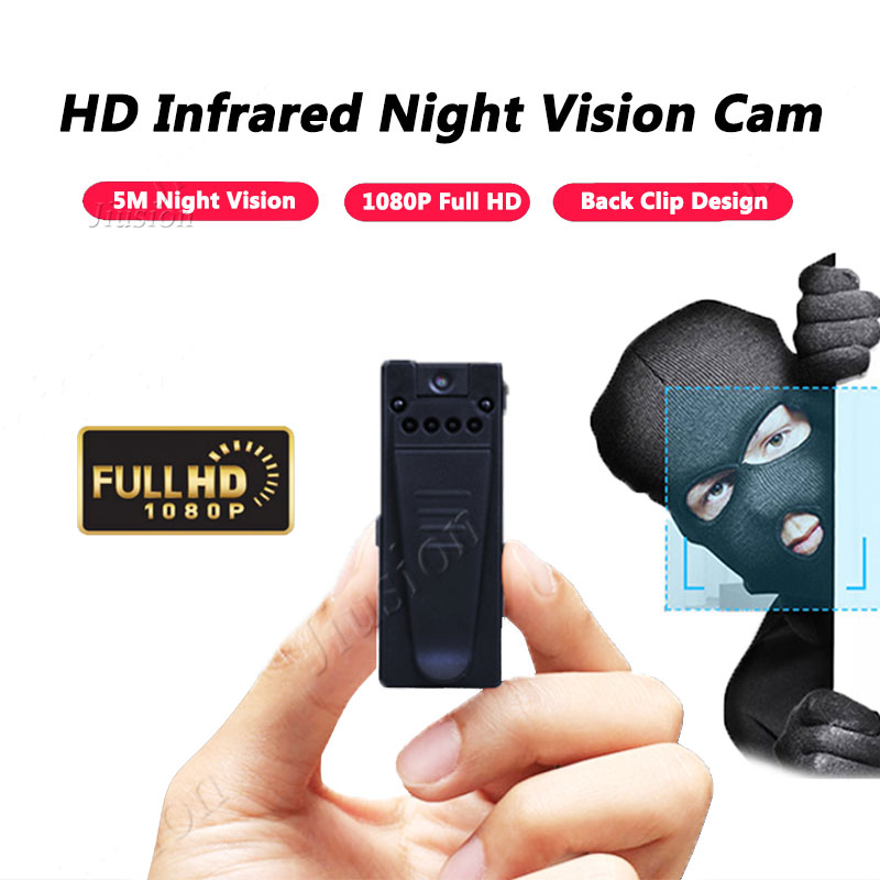 2018 Fire Mini Camera 1080P HD Camcorder 6 Night Vision Lights Motion Sensor Webcam DV DVR Video Audio Recorder Sport Micro Cam image