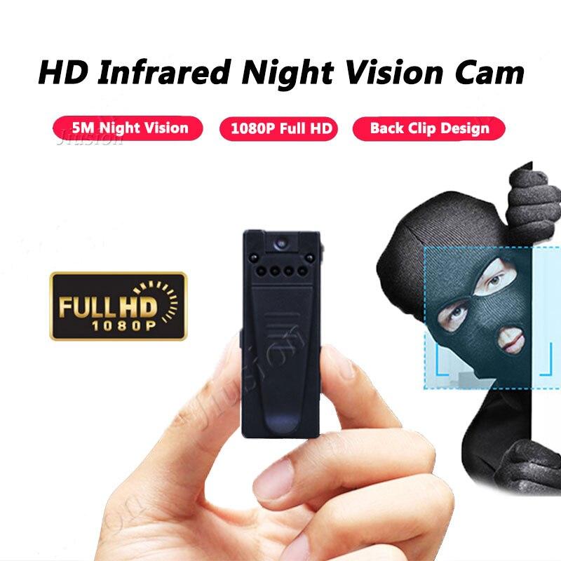 2018 Fuoco Mini Macchina Fotografica 1080 p HD Camcorder 6 Luci di Visione Notturna Sensore di Movimento Webcam DV DVR Video Audio Recorder sport Micro Cam