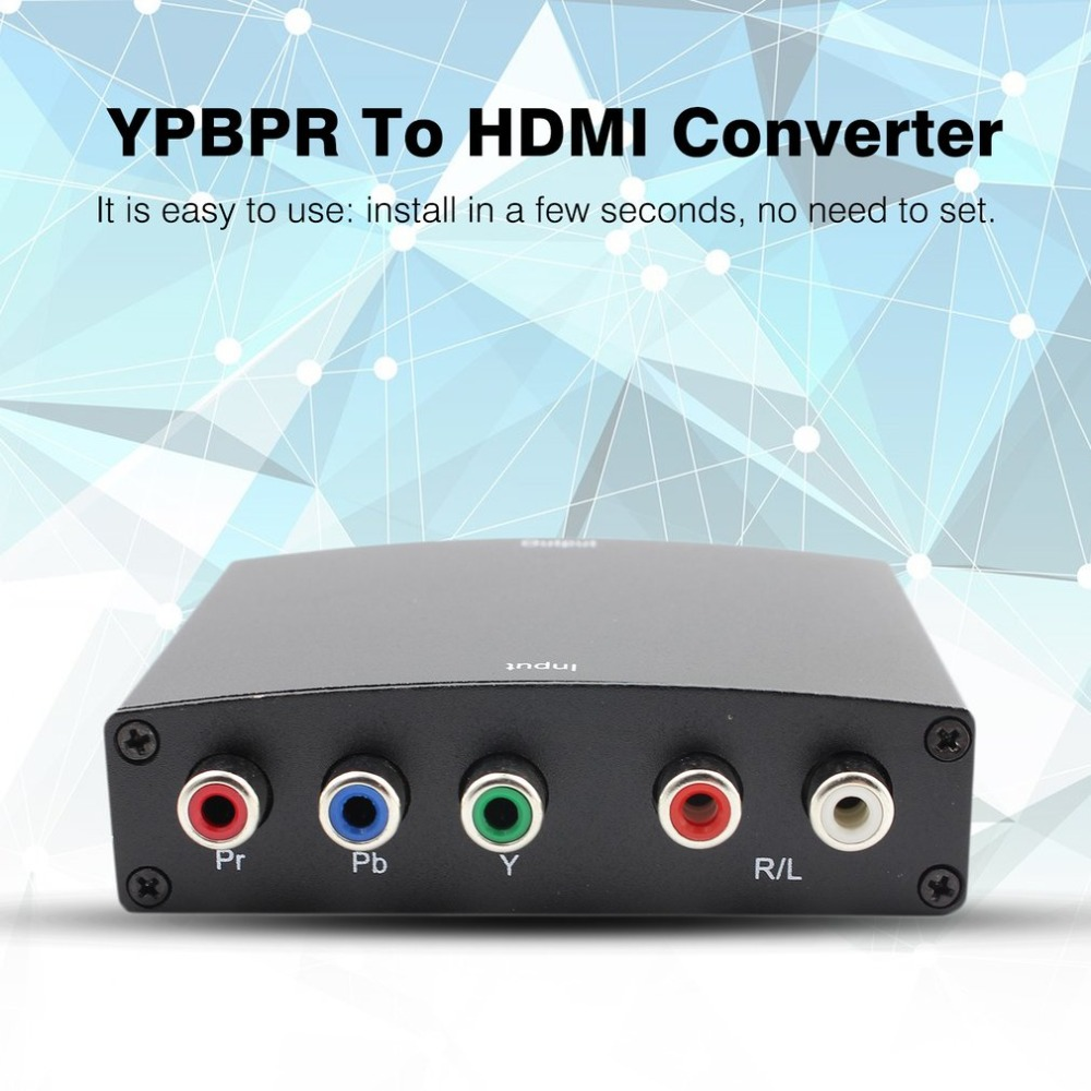 YPBPR To HDMI Converter Adapter 1080P YPBPR + Audio R/L To HDMI Converter Conversion Adapter Power Cable Drop Shipping цифровой конвертер espada vga r l audio to hdmi adapter hcv0101