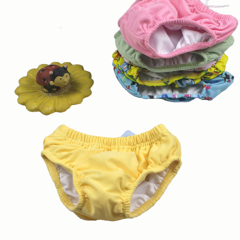 Diapers for Swimming in the Pool Diapers Waterproof Swim Pants Baby Reusable Diaper Swimwear Nappies Swim Diaper Boy and Girl baby infant swim nappies reusable newborn swimwear cute baby swimsuit brand baby bathing suit adjustable swim diapers for babies