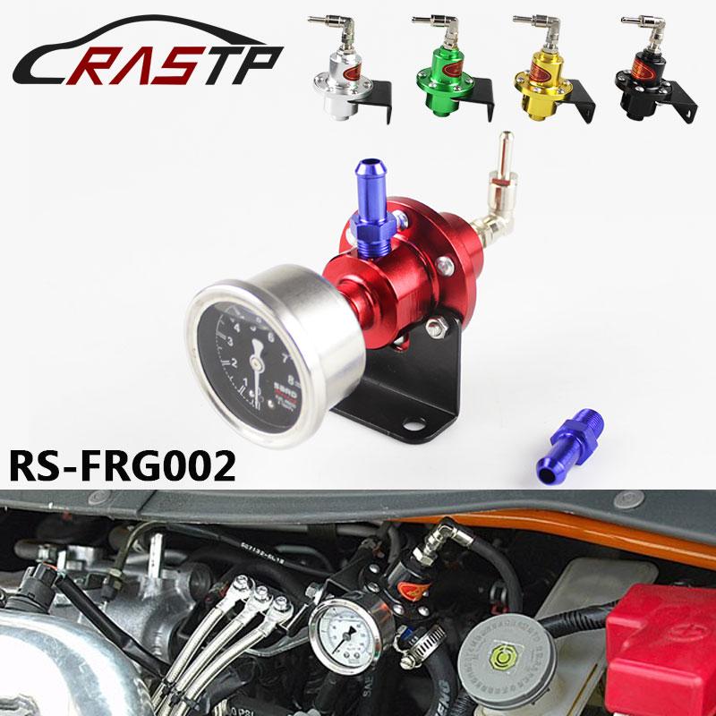 Universal Adjustable Fuel Pressure Regulator With Original Gauge And Instructions With Logo Fuel Regulator RS-FRG002