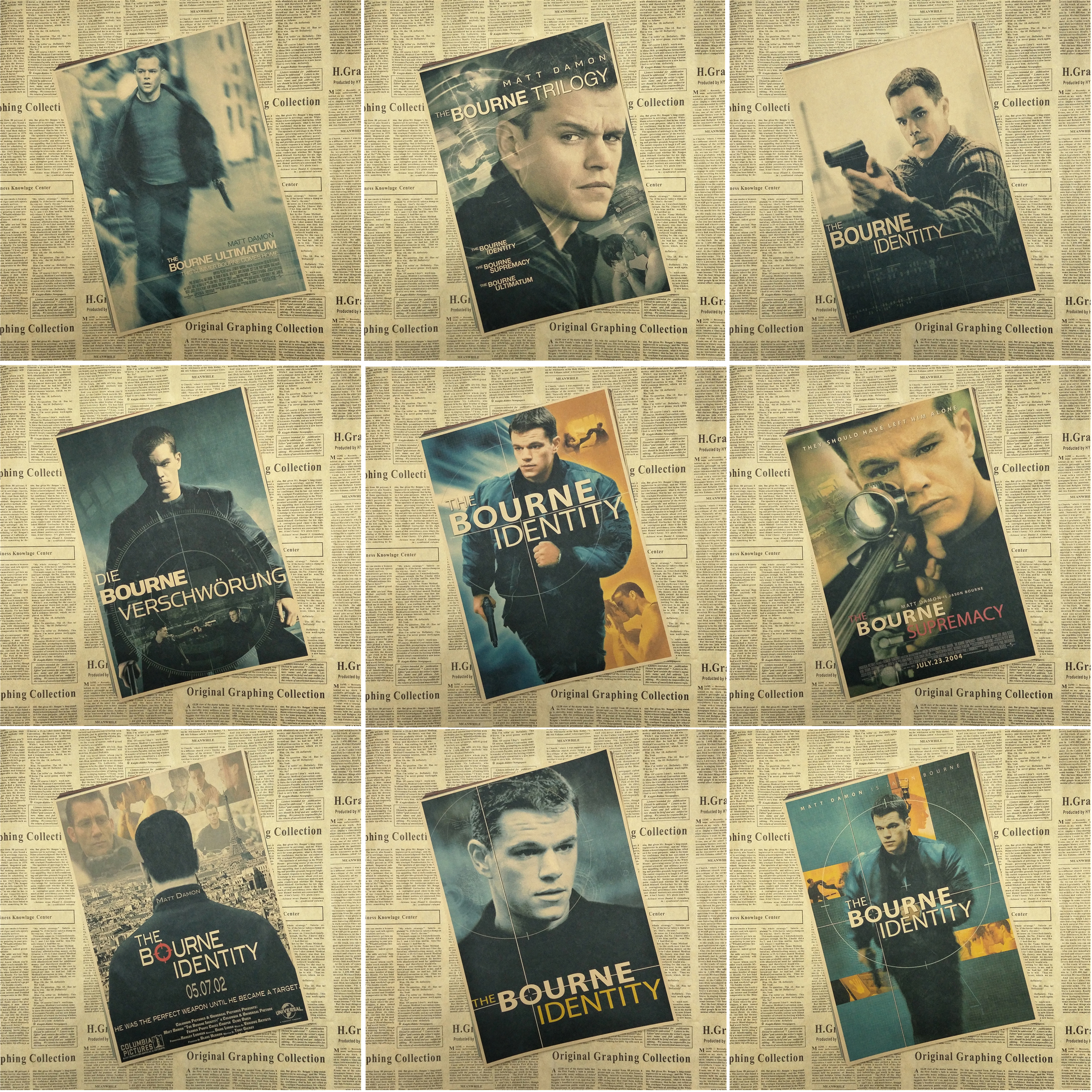 Movie Posters The Bourne Promotion-Shop for Promotional