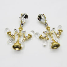 New Fashion Baroque Crystal Mini Chandeliers Earrings Charm Rhinestone  Dangle Exaggerated Statement Bridal Party Jewelry 439 aa30cb0d1055