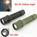 Yellow Light Tactical Torch 300lm LED Flashlight 16340 for SureFire G2 Xenon Light LED Torch