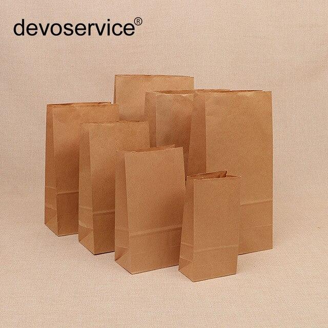 10 pc Kraft Saco de Papel Óleo de Cozimento-prova Takeaway Embalagens de Alimentos Em Branco Presente de Natal Publicidade Saco de Biscoitos do Cozimento Da Cozinha