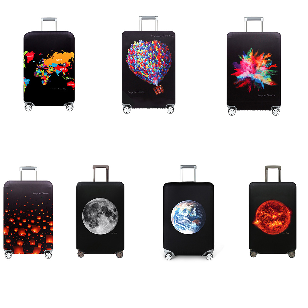 Travel Suitcase Dust Cover High Elastic Luggage Protector Thick Protective Case Dustproof Bag