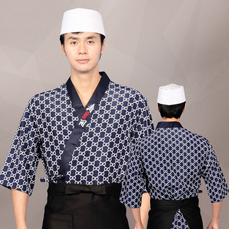 ()Korean Food Chef's Long Sleeve Catering Chef Clothes After Hutch Overalls A Japanese Chef Clothing Uniforms