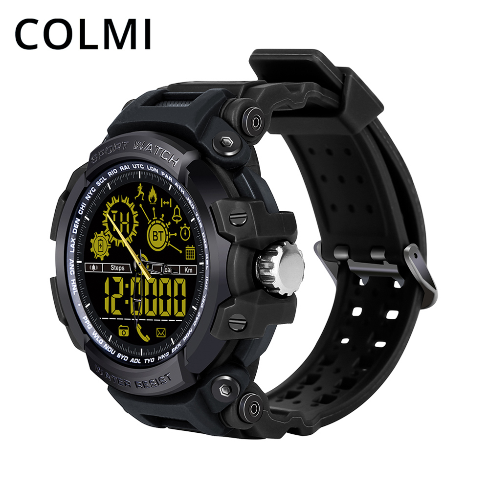 все цены на COLMI S8 Smart Watch Sport Waterproof Professional Ultra-long Standby Passometer Reminder Mechanical & Digital BRIM Smartwatch онлайн