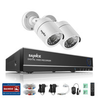 SANNCE 4CH HD TVI 720P Video CCTV DVR Security System With 4pcs 1 0 Megapixel 720P