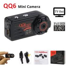 QQ6 Micro Mini Câmera HD 1080 P 720 P Mini Câmera IR Night visão Da Câmera Mini DV 12 M Detecção de Movimento Filmadora Digital Video Cam