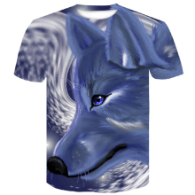 2019 Newest Wolf 3D Print Animal Cool Funny T-Shirt Men Short Sleeve Summer Tops T Shirt Tshirt Male Fashion T-shirt male M-4XL