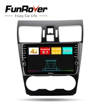 Funrover 2 din Android 8.1 8 Core Car Radio DVD Multimedia Player stereo gps For Subaru Forester XV WRX 2012 2018 DSP 4G 64G LTE