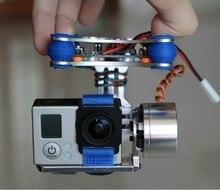 Dji fantasma gopro 2 3 metal brushless camera gimbal w/motores & controlador rtf