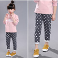 2017 New Arrival fashion girls trousers spring and autumn dot girls casual pants mid waist baby girls pants girls winter pants