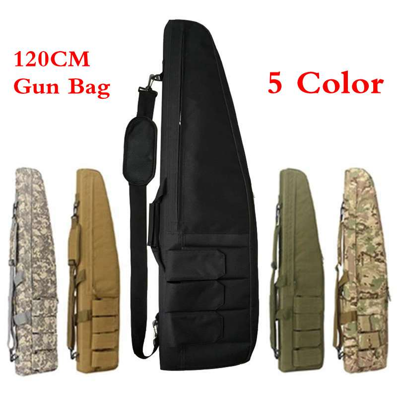 Multifunction Tactical 120CM Heavy Gun slip Bevel Carry Rifle Case shoulder pouch Waterproof With protection cotton