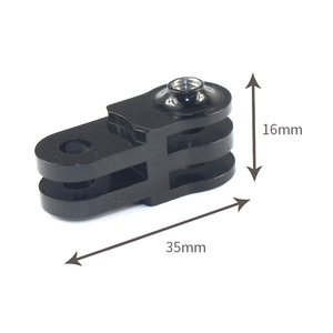 Image 2 - CNC Extension Activity Connector for 3 way Pivot Arm for Gopro Hero 6 5 4 /SJ4000 / yi Action Camera Tripod Mount Adapter