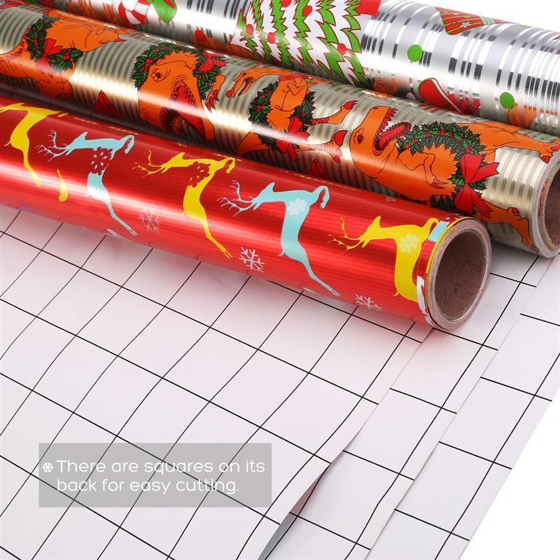 3 Rollen Weihnachten DIY Geschenkpapier Geschenkpapier Organizer 70 ...