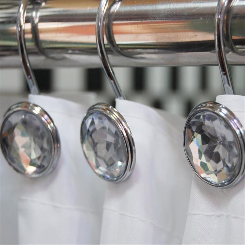 Stainless Steel Curtain Hook Clips Window Shower
