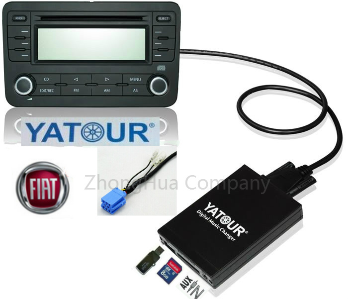 ФОТО Yatour Digital Music CD Changer(DMC USB SD MP3 Bluetooth interface) for Fiat 8-Pin Alfa Lancia Maserati Blaupunkt Adapter
