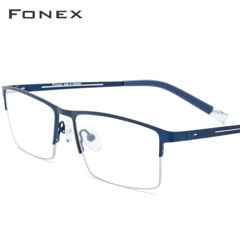 Alloy Glasses Frame Men Half Square Myopia Prescription Eyeglasses 2019 New Arrival Classic Semi Rimless Optical Frames Eyewear