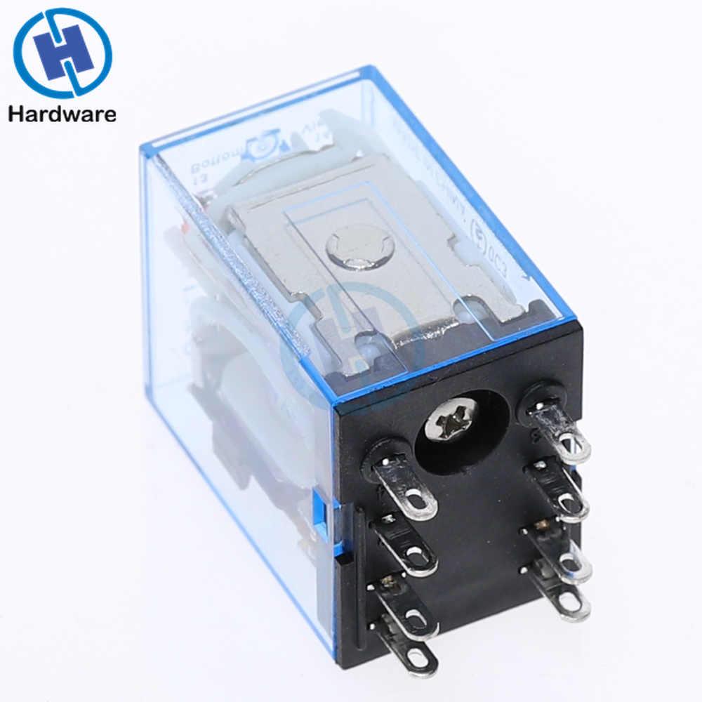 MY2NJ Bobine DC12V DC24V AC110V AC220V HH52P10A 220 V Électromagnétique Miniature Relais À Usage Général
