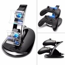 ขายร้อนUSBไฟLED Dual Controllerแท่นชาร์จสำหรับXbox One Gamepadเกมอุปกรณ์เสริม