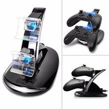 Wyprzedaż USB LED Light podwójny kontroler stacja do ładowania stacja do ładowania dla Xbox One Gamepad akcesoria do gier