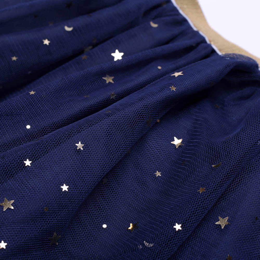 Niños con estrellas para bebés falda tutú de baile brillante para niña lentejuelas 3 capas tul niño pequeño pettiskirt niños falda de gasa 3-7T 1D13