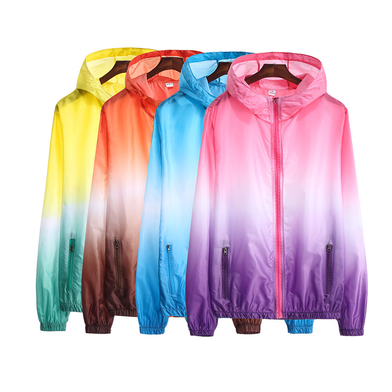 Fishing Men Gradient Color Jackets Casual Clothes kleding Quality Apparel Brand Outdoor Camping UV Waterproof Hooded Jacket 2019Fishing Men Gradient Color Jackets Casual Clothes kleding Quality Apparel Brand Outdoor Camping UV Waterproof Hooded Jacket 2019