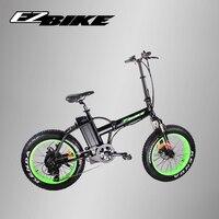 EZBIKE Европейский склад 2 колесный скутер с толстыми покрышками 500 ваттовый мотовелосипед с 48 V 10.4ah съемный Батарея для электрический велосипе