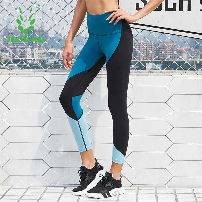 1f70af6f83 Vansydical Women Yoga Pants Quick Dry Gym Sport Leggings Sportswear Fitness  Clothing Running Tights Jogging Female