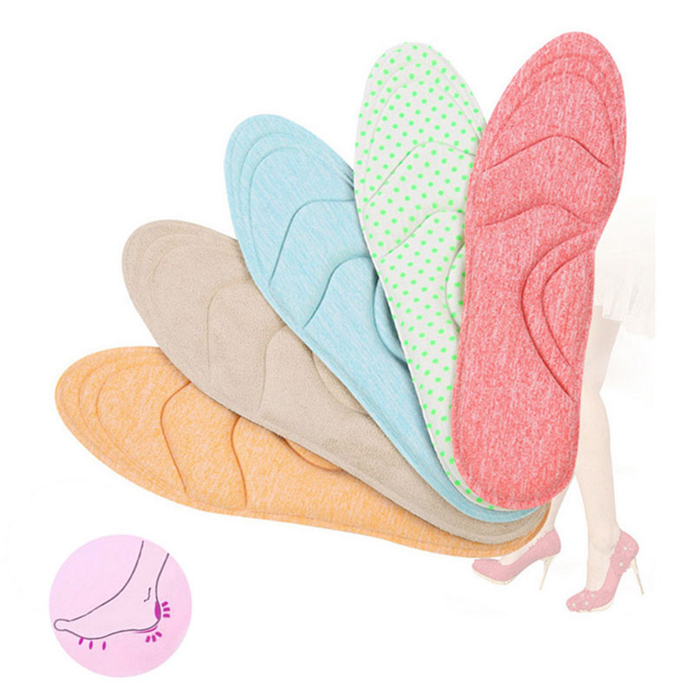 4D Comfortable Orthopedic Pads Sponge Arch Supports High Heels Shoes Insoles for Women Ladies Massage Heel Insole Inserts G0250