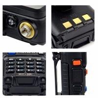 מכשיר הקשר 2X5W DTMF מכשיר הקשר Retevis RT-5R Portable Ham Radio 128CH UHF / VHF רדיו שני הדרך רדיו Hf Trasceiver 1800mAh סוללה EEShip (5)