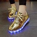 2017 Бренд Мужской Красочные Светящиеся Обувь с Загорается Светодиод светящиеся Обувь Новый Моделирование Единственным Led Обувь Взрослых Neon Led обувь