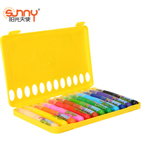 Free Shipping 12 24 36 Colors Silky Crayon Chalks Kids Crayons Art Pen Pastel Cheap Drawing