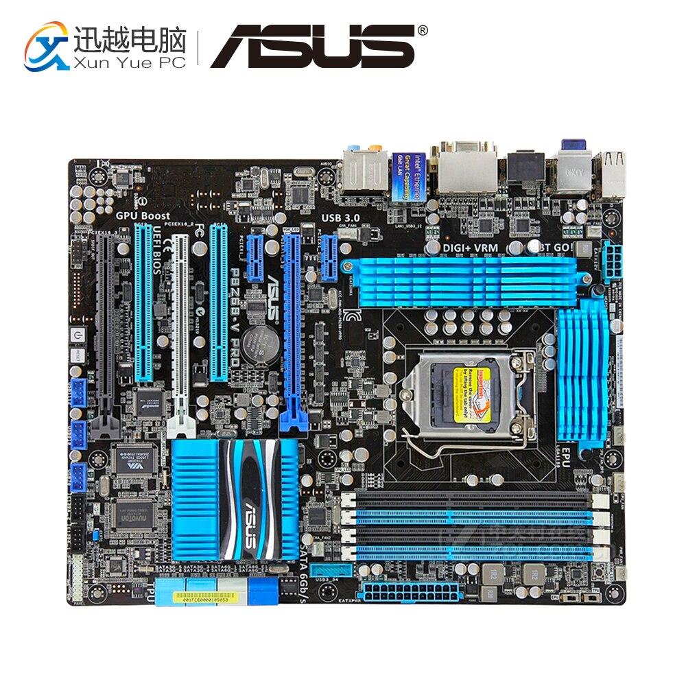 Asus P8Z68-V PRO Desktop Motherboard Z68 Socket LGA 1155 i3 i5 i7 DDR3 32G SATA3 USB3.0 ATX used for asus p8p67 evo desktop motherboard p67 socket lga 1155 i3 i5 i7 ddr3 32g sata3 usb3 0