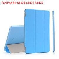 RYGOU עבור אפל iPad אוויר קייס עור PU החכם שפתוחה מגנטית כיסוי + נקה קשיח חזרה מקרה עבור iPad אוויר 1 רשתית 2013 Tablet מקרה