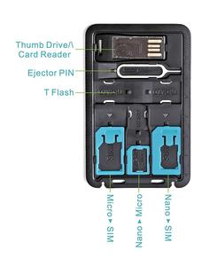 Image 5 - ALL IN ONEขนาดบัตรเครดิตSlim SIM Adapter Kit with TF Card Reader & SIM Cardถาดใส่ถาด,ผู้ถือซิมการ์ด