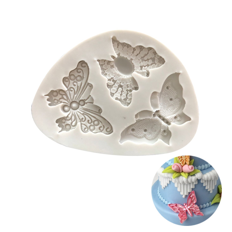 3D Butterfly Silicone Mold Polymer Clay DIY 3d Wall Panel Craft Decorating Tools Concrete Molds For Plaster Easter Candle Mold