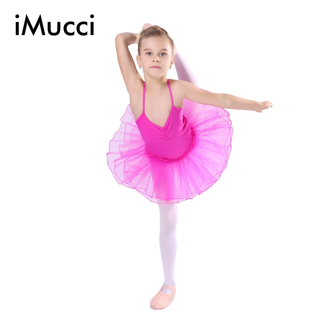 a356d7a216ea iMucci Rose Girl Ballet Dress For Child Gauze Gymnastics Leotard ...