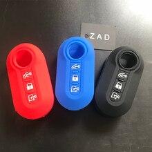Чехол для автомобильного ключа ZAD, силиконовый резиновый чехол для Fiat Ducato, Citroen, реле для Peugeot Boxer, Peugeot 25, 3 кнопки