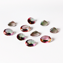 6.5-7.5ct Multicolor 12x16MM Natural Mystic Rainbow Topaz High Quality Oval Loose Gemstone DIY Jewelry Gifts 10 pcs/lot Hotsale