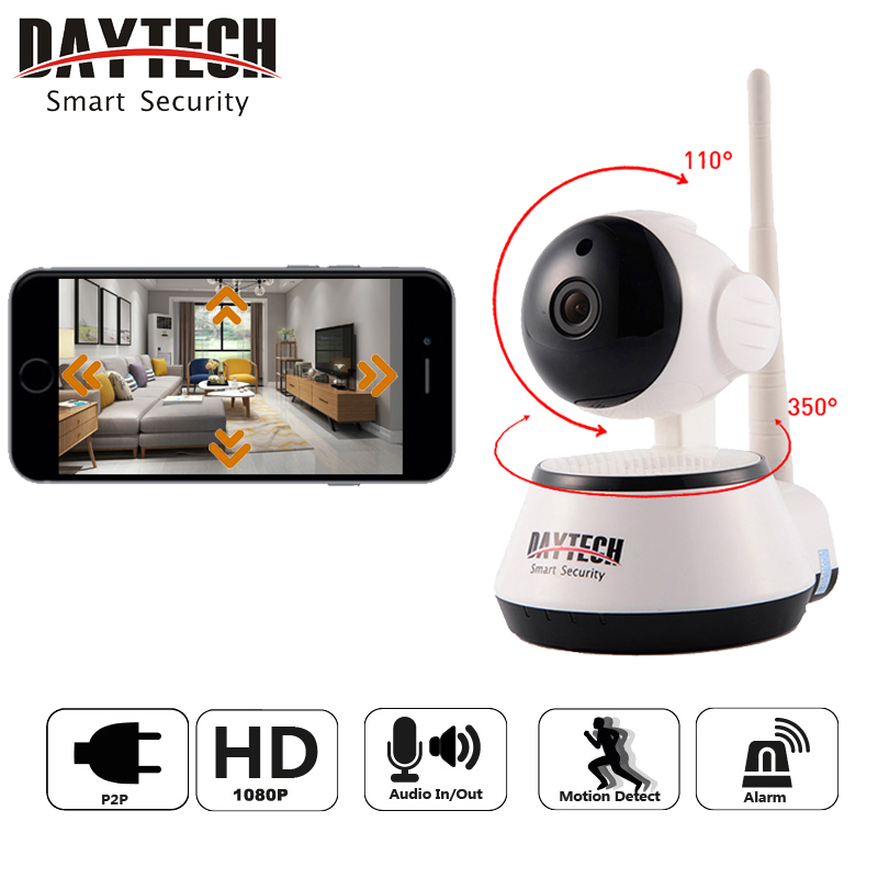Daytech WiFi IP Camera Home Security Camera 1080P Night Vision Infrared Two Way Audio Baby Monitor Wireless Network DT-C8815-2MP