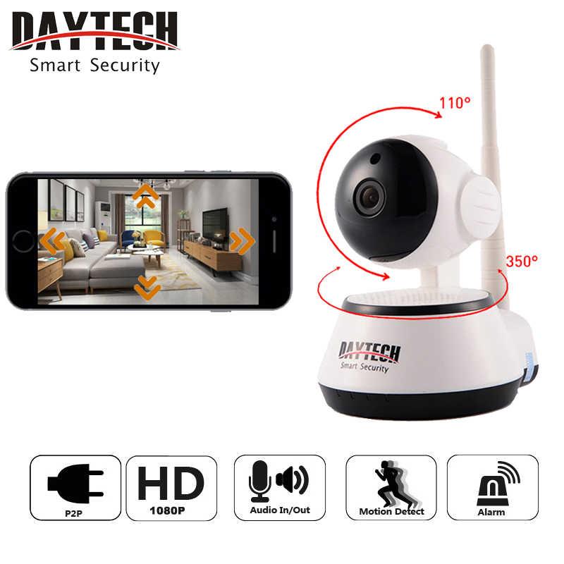 Daytech WiFi IP كاميرا الأمن الرئيسية كاميرا 1080 وعاء للرؤية الليلية الأشعة تحت الحمراء اتجاهين الصوت مراقبة الطفل اللاسلكية شبكة DT-C8815-2MP