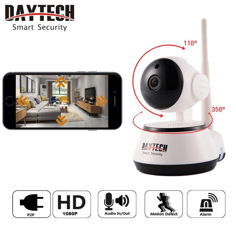 Daytech WiFi IP Caméra de Sécurité À Domicile Caméra 1080 p Vision Nocturne Infrarouge Deux Voies Audio Baby Monitor Sans Fil Réseau DT-C8815-2MP