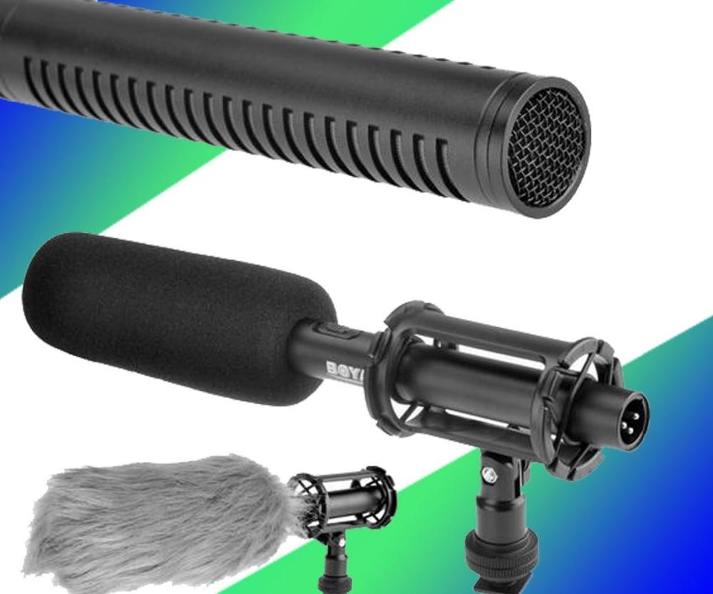 BOYA BY-PVM1000 Professional DSLR Condenser Shotgun Microphone Video Interview Reporting for Canon Nikon Sony DSLR Cameras