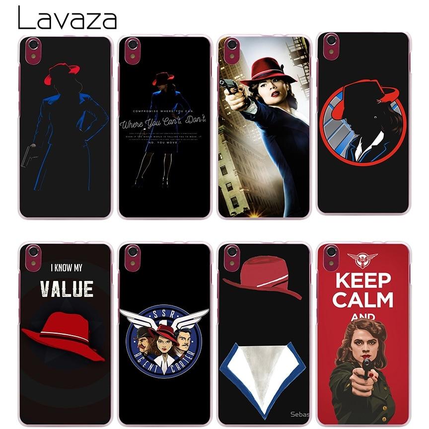 Lavaza Agent Carter Hard Cover Case for Lenovo K3 K4 K5 K6 Note S850 S90 S60 A2010 A5000 X3 Lite ZUK Z2 Vibe P1