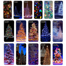 148WE Happy New Year to the Christmas treeSoft Silicone Tpu Cover Case for huawei Honor 7a pro 7x 7c Nova 2i 3 3i p smare(China)