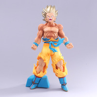 2018 Hot Sale Anime Model Seven Dragon Ball Super Race Asia's Blood Exceeds One Golden Hair Wukong Explosion Gas Color Box